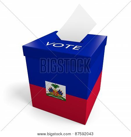 Haiti election ballot box for collecting votes