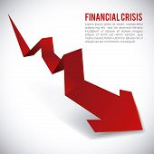 financial crisis graphic design , vector illustration poster