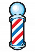 Barber Pole: Red, white and blue stripes. poster