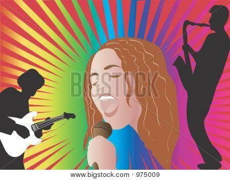 Jazz Singer Illustration