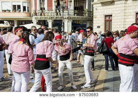 Castells Performance by castellers
