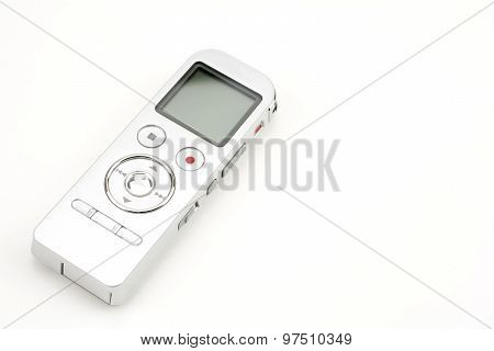 Digital voice recorder isolated on white background poster