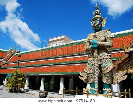 The Giant Stand On Sentry Bankok Thailand