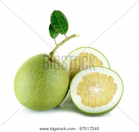 Fresh Pomelo Isolated On The White Background