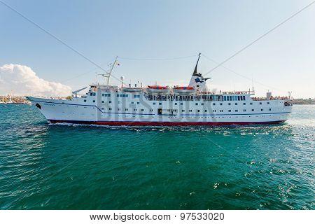 Sevastopol, Ukraine - August 24. Ship Adriana