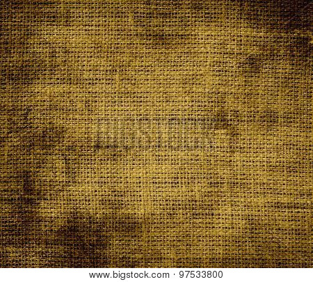 Grunge background of drab burlap texture