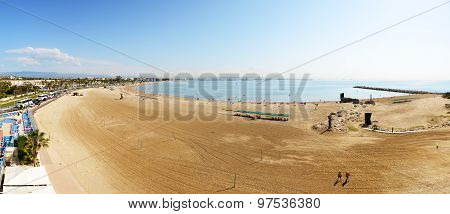 Panorama Of The Beach, Costa Dorada, Spain