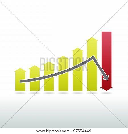 Sharp Downward Graphic