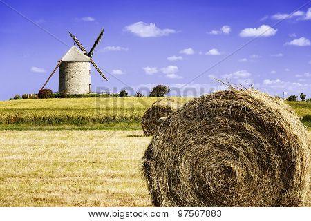 Windmill In Pontorson