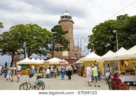 The Lighthouse In Kolobrzeg In Poland