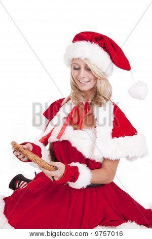 Santas Helper Big Cookie Look Down
