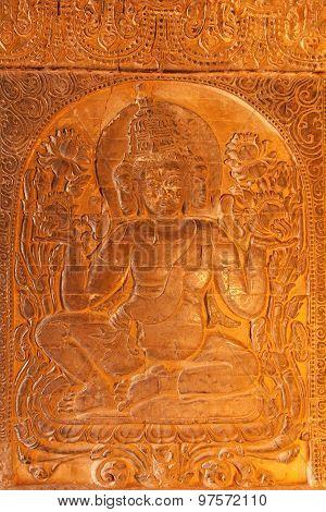 Golden Bhuddist Decoration, Bagan, Myanmar