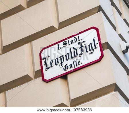 Leopold Figl Street In Vienna In First District