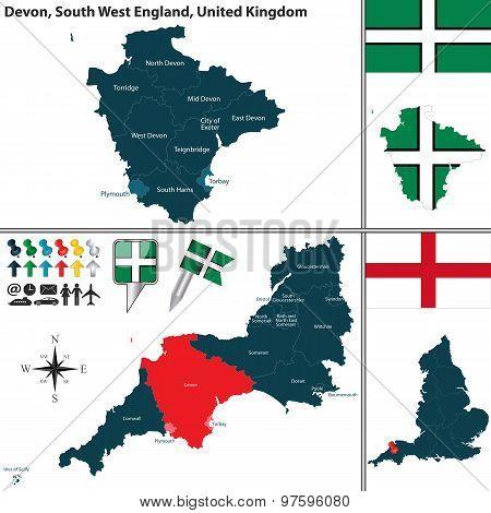 Devon, South West England, Uk