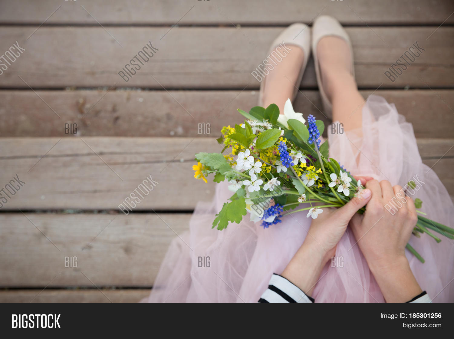 Top View On Woman Image Photo Free Trial Bigstock