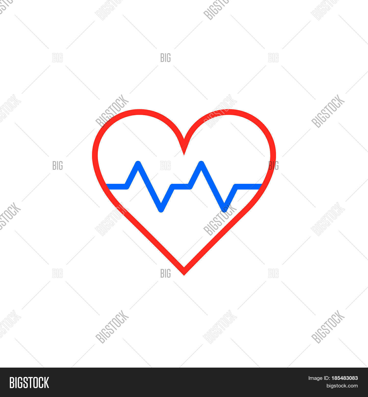 Heartbeat symbol heart beat pulse vector photo bigstock heartbeat symbol heart beat pulse line icon outline vector logo illustration linear pictogram isolated on buycottarizona Image collections
