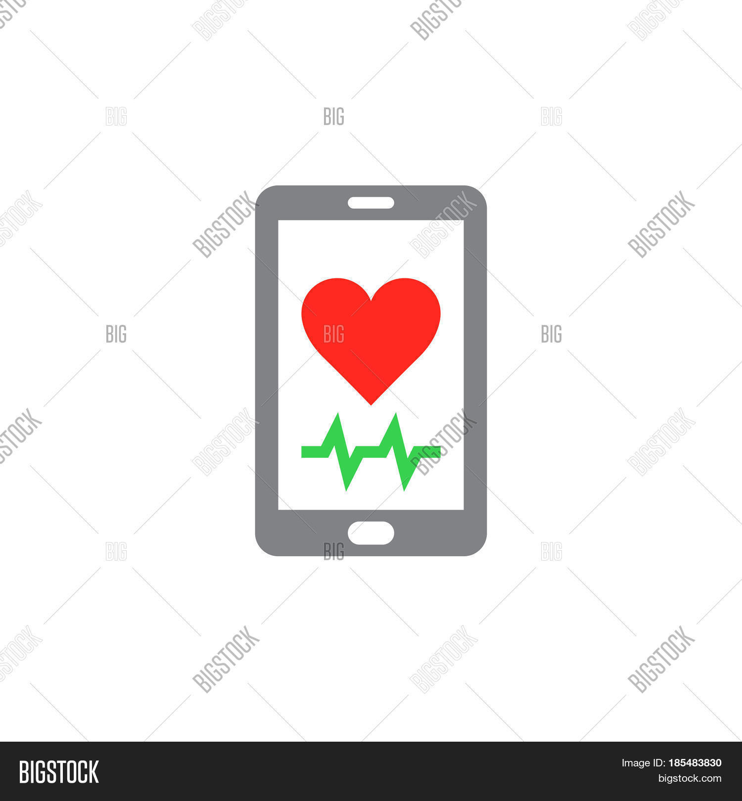 Heart Rate Mobile Vector Photo Free Trial Bigstock