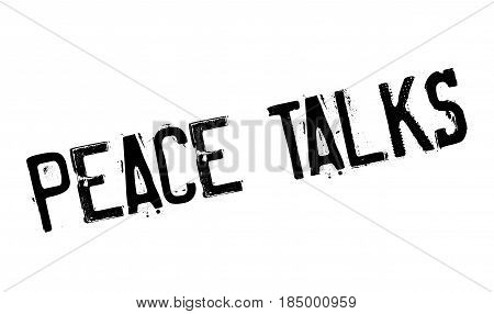 Peace Talks rubber stamp. Grunge design with dust scratches. Effects can be easily removed for a clean, crisp look. Color is easily changed.