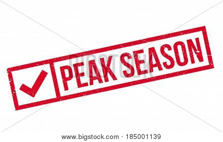 Peak Season rubber stamp. Grunge design with dust scratches. Effects can be easily removed for a clean, crisp look. Color is easily changed.