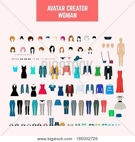 Avata creator woman.. Fully editable Illustration vector