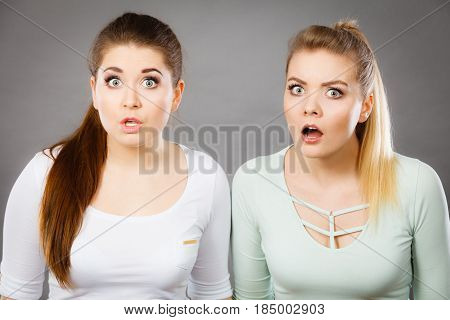 Two Shocked And Amazed Women