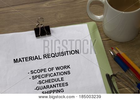 Material Requisition