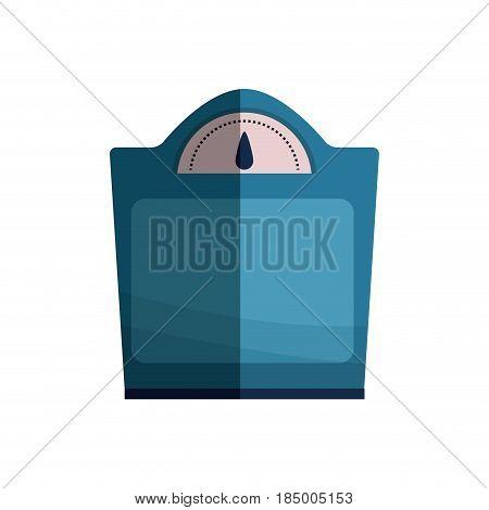 weight scale balance bathroom tool design, vector illustration graphic