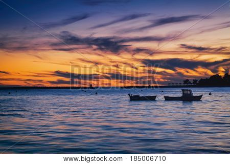 Porec old town and the sunset - Croatia