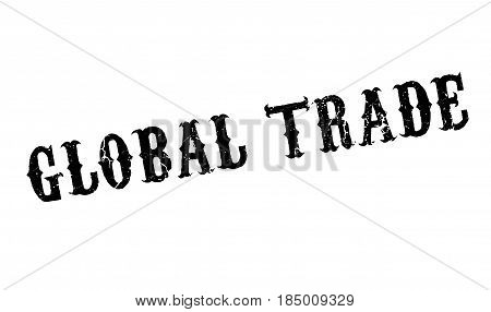 Global Trade rubber stamp. Grunge design with dust scratches. Effects can be easily removed for a clean, crisp look. Color is easily changed.