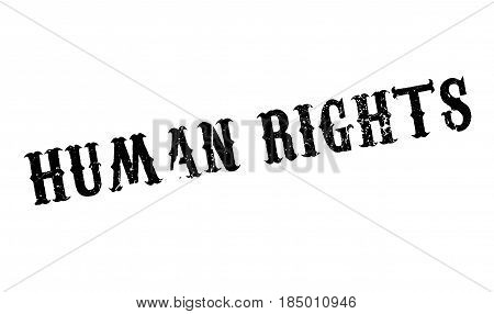 Human Rights rubber stamp. Grunge design with dust scratches. Effects can be easily removed for a clean, crisp look. Color is easily changed.