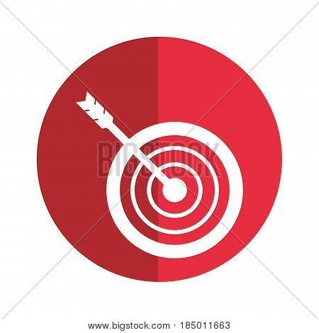Target dartboard symbol icon vector illustration graphic design