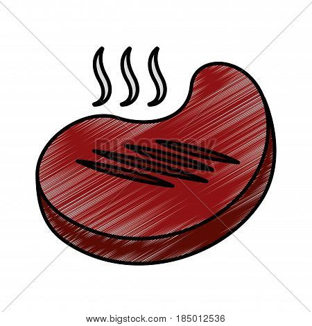 meat beef isolated icon vector illustration design