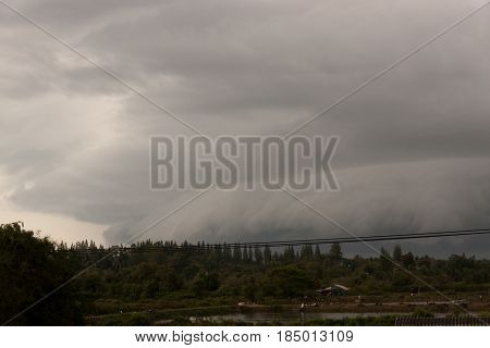 Cloud arcus thunderstorms. The shelf cloud storm. Shelf cloud are typically seen at the leading edge of a thunderstorm.
