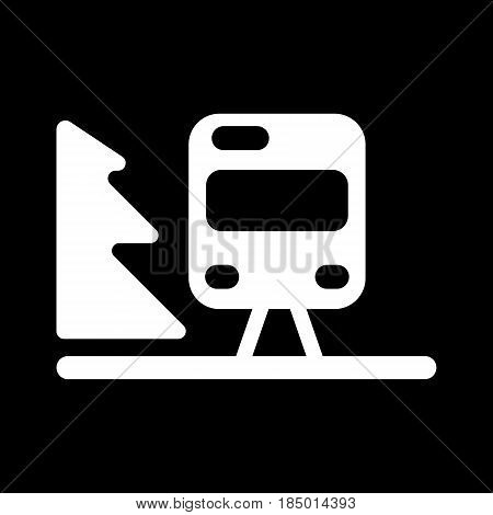 Train outline vector. Isolated on black. Eps 10
