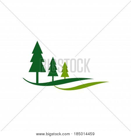 Field landscape vector image on white background