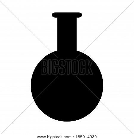 test tube laboratory school study pictogram vector illustration
