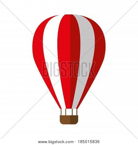 air balloon icon over white background. vector illustration