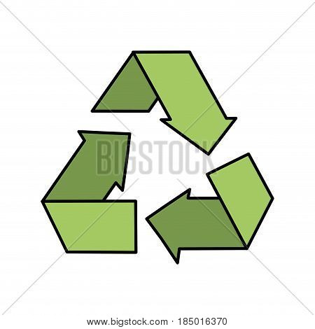 reduce, recycle and reuse environment symbol, vector illustration
