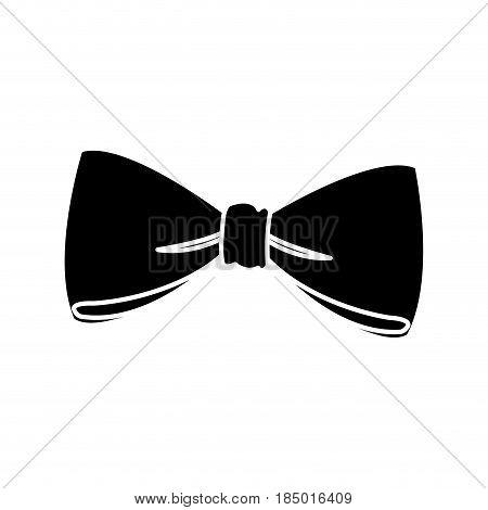 bow decoration elegant ribbon pictogram vector illustration