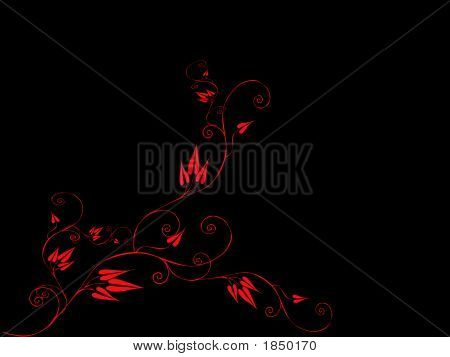 Red Vines On Black.Eps