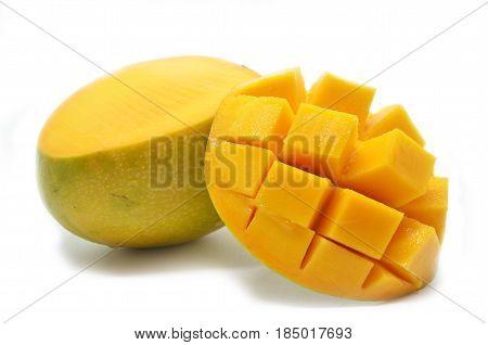 Mango Cubes Slices