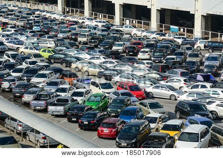 Car Parking Lot In Bangkok, Thailand