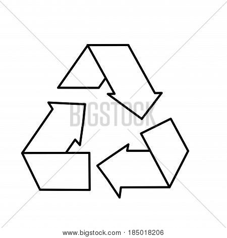 line reduce, recycle and reuse environment symbol, vector illustration