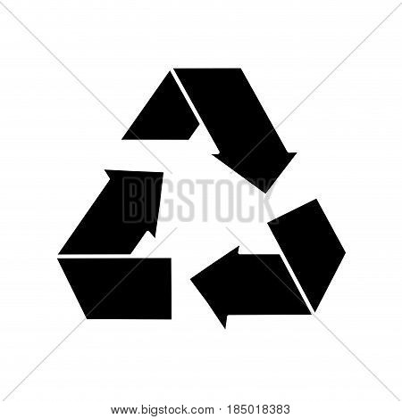 contour reduce, recycle and reuse environment symbol, vector illustration