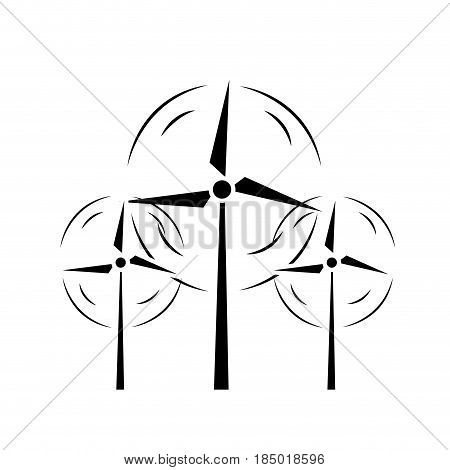 contour nature and organic windpower ecology care, vector illustration