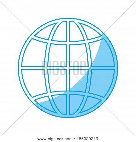 global sphere icon over white background. vector illustration