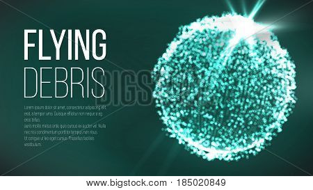 Futuristic Earth Globe. Abstract Technology Futuristic Network. Big Data Complex