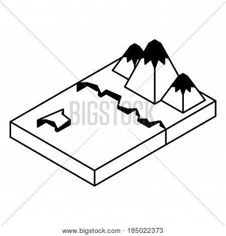 artic terrain isometric icon vector illustration design