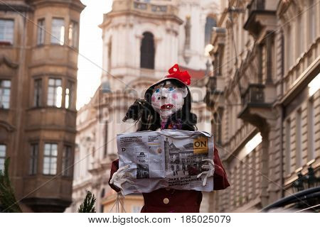 Prague, Czech Republic - April 30, 2017: Witch Burning Night (
