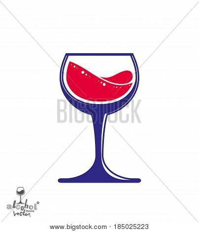 Bright Classic Vector Goblet, Stylish Alcohol Theme Illustration. Lifestyle Graphic Design Element -